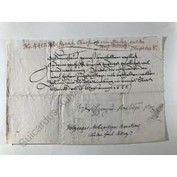 Mainz 1585 - Brieffragment...