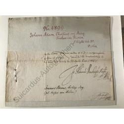 Mainz 1603 - Brieffragment...