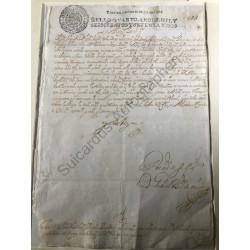 Spanien 1672 - Urkunde mit...