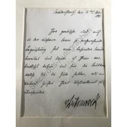 Friedrichsruh, 16. Mai 1891...