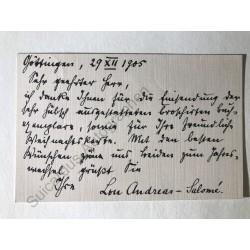 Göttingen, 29. 12.1905 -...