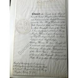 Urkunde vom 26. Juni 1908...