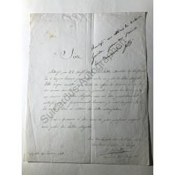 Neapel 1811 - Vermerk mit...