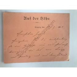 Leipzig, 13. September 1881...