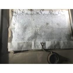 Uhlstädt 1661 - Urkunde mit...