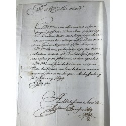 Aschaffenburg, 16. 01.1694...