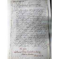 Mainz, 20. August 1700 -...