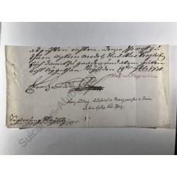Mainz 1730 - Brieffragment...