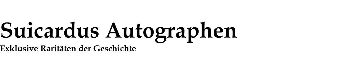 Suicardus Autographen
